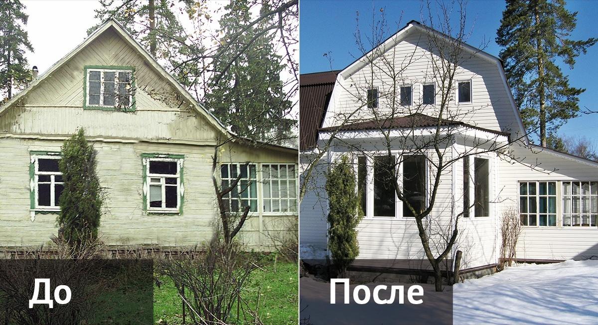 Реконструкция старого деревянного дома  фото